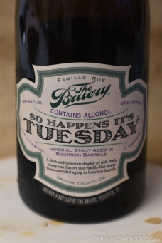 the Bruery - so happens it's Tuesday-3